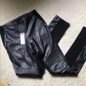 Faux leather BCBG MADDOCK pants